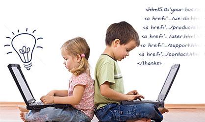 Website design and graphic design KID concept
